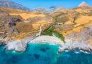 Amazing Ammoudi, Ammoudaki, Damnoni beaches in Crete island, Greece near famous resort of Plakias